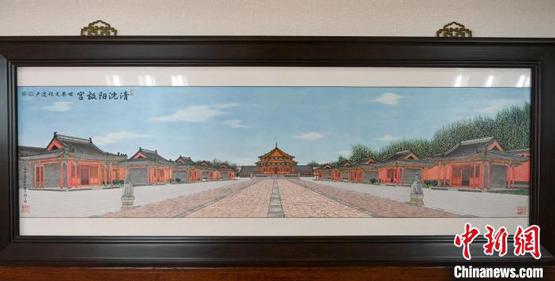 """历时45天 辽宁非遗传承人用瓷板雕刻出""""沈阳故宫"""""""