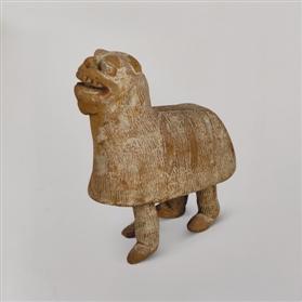 舞狮俑:中国与西域文化交流的产物