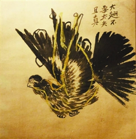 齐白石晚年绘写和平鸽