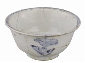 明代青花莱菔纹碗