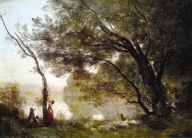 柯罗笔下的女人和风景