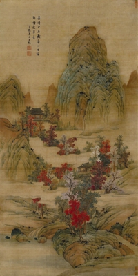 高天厚土 白云红树