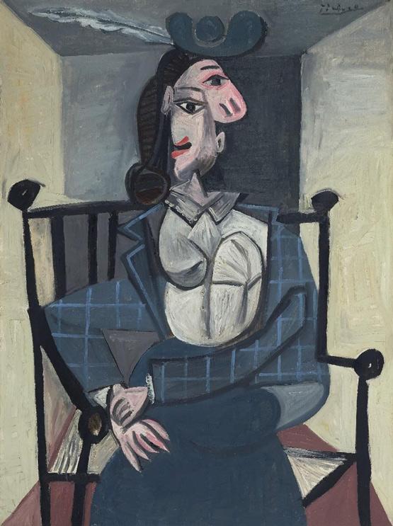 佳士得将在纽约晚拍呈献毕加索的多拉・ 玛尔肖像
