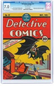 81年前老杂志拍出150万美元 封面为蝙蝠侠