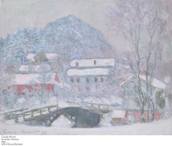 乘雪橇去画画的莫奈:这不是富士山