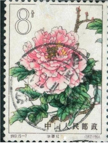 我国的国花牡丹在邮票中的体现
