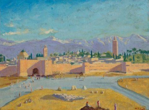 7400万!丘吉尔画作《库图比亚清真寺宣礼塔》刷新个人拍卖纪录