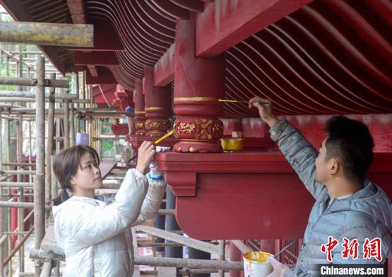 """四川蓬安:一群""""90后""""青年画师用匠心守护相如故城千年记忆"""